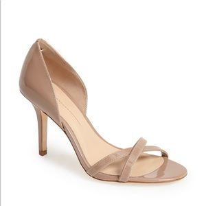 Anthropologie Aerin Cocobay Nude Leather Heels 8